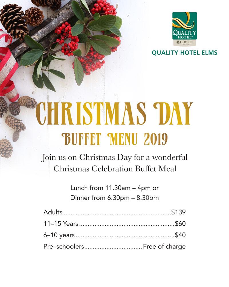 Christmas Buffet Menus.Fig Restaurant New Zealand